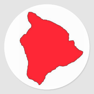 大きい島の赤 ラウンドシール