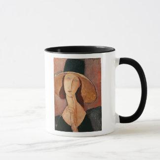 大きい帽子のJeanne Hebuterneのポートレート マグカップ