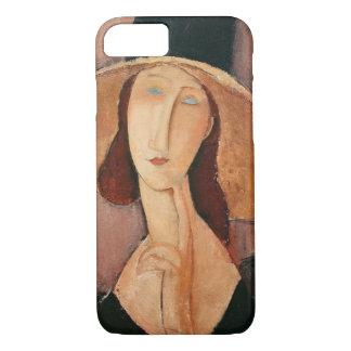 大きい帽子のJeanne Hebuterneのポートレート iPhone 8/7ケース