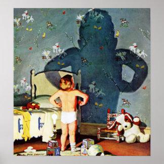 """""""大きい影、小さい男の子""""、1960年10月22日 ポスター"""