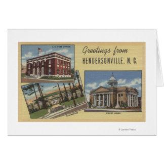 大きい手紙場面- Hendersonville、NC カード