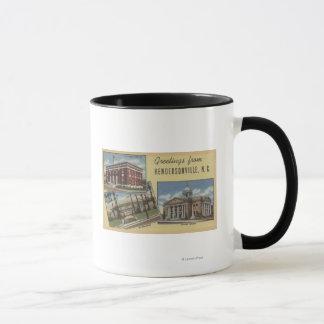 大きい手紙場面- Hendersonville、NC マグカップ