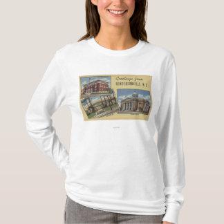 大きい手紙場面- Hendersonville、NC Tシャツ