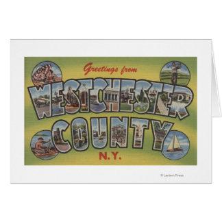 大きい手紙場面- Westchester County、NY カード
