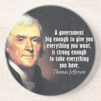 大きい政府のトーマス・ジェファーソンの引用文 コースター