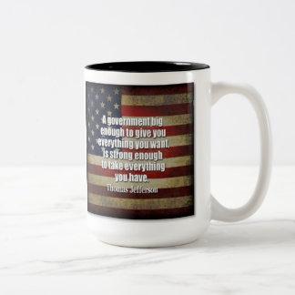 大きい政府のマグ ツートーンマグカップ