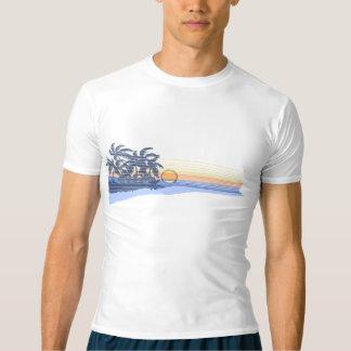 大きい日没のハワイのサーファーの無謀な監視 Tシャツ