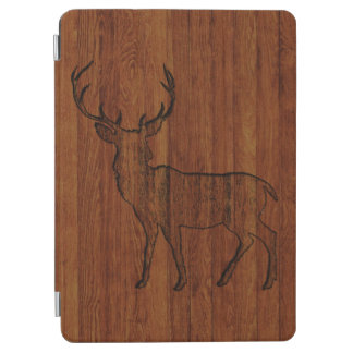 大きい木びき台によって切り分けられる木製の効果 iPad AIR カバー