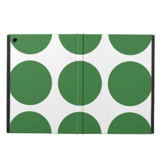 大きい水玉模様のiPadの空気箱 iPad Airケース