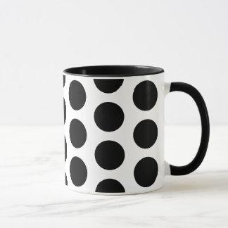 大きい水玉模様パターンマグ マグカップ