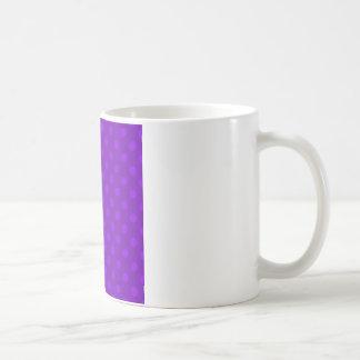 大きい水玉模様-すみれ色5b コーヒーマグカップ