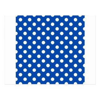 大きい水玉模様-コバルトの白 ポストカード