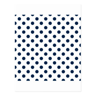 大きい水玉模様-白のオックスフォード青 ポストカード