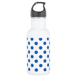 大きい水玉模様-白のデニム色 ウォーターボトル