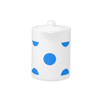 大きい水玉模様-白のドジャースの青