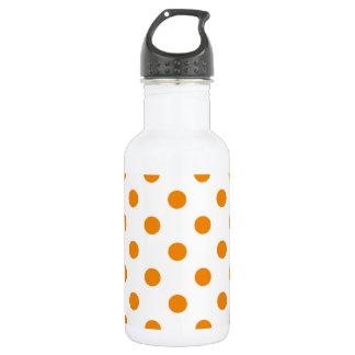 大きい水玉模様-白の蜜柑 ウォーターボトル