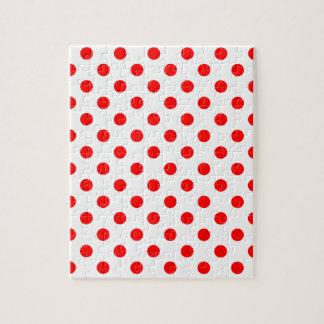 大きい水玉模様-白の赤 ジグソーパズル