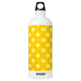 大きい水玉模様-蜜柑の黄色の黄色 ウォーターボトル