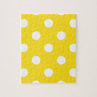 大きい水玉模様-金黄色の白 ジグソーパズル