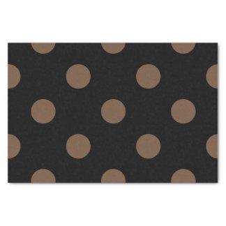 大きい水玉模様-黒のコーヒー 薄葉紙