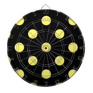 大きい水玉模様-黒のレモン ダーツボード
