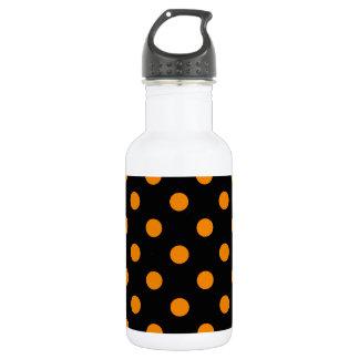 大きい水玉模様-黒の蜜柑 ウォーターボトル