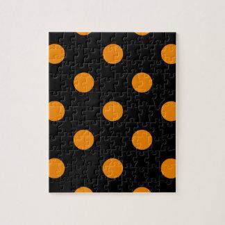 大きい水玉模様-黒の蜜柑 ジグソーパズル