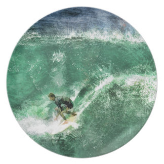 大きい波のサーフィン プレート