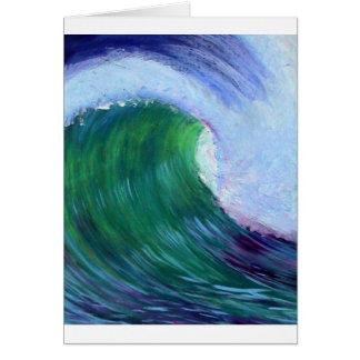 大きい波 グリーティングカード