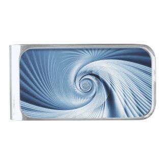大きい波 シルバー マネークリップ