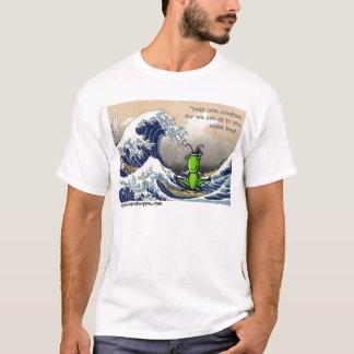 大きい波、小さいバッタ Tシャツ
