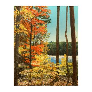 大きい湖、Umstead公園の秋 アクリルウォールアート
