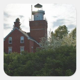 大きい湾の灯台 スクエアシール