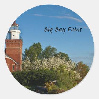 大きい湾ポイント灯台 ラウンドシール