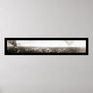 大きい火のDrumrightの良い写真1914年 ポスター