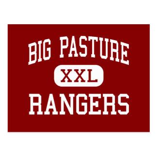 大きい牧草地-レーンジャー-高Randlettオクラホマ ポストカード