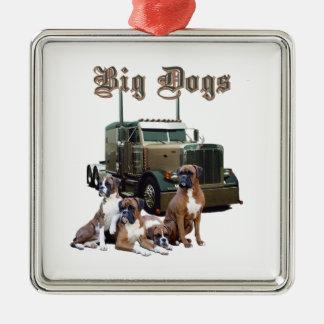 大きい犬 メタルオーナメント