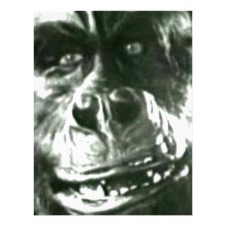 大きい猿の顔 レターヘッド