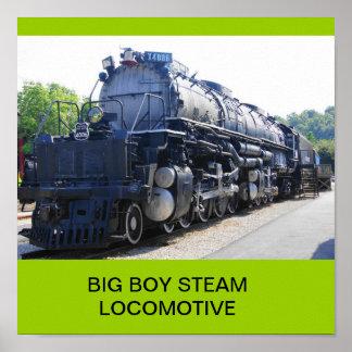 大きい男の子の蒸気機関車 ポスター