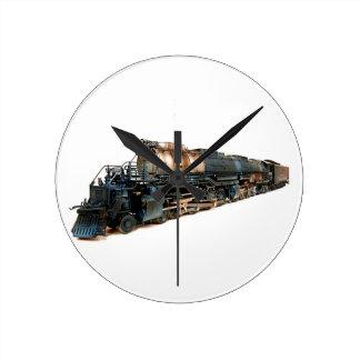 大きい男の子の蒸気機関車 ラウンド壁時計