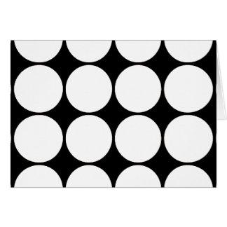 大きい白黒水玉模様の円パターン カード