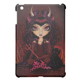 大きい目の悪魔および悪魔猫のiPadの場合 iPad Miniケース
