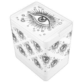 大きい目の眼球ICUハロウィンの病院のアイスペール IGLOOクーラーボックス