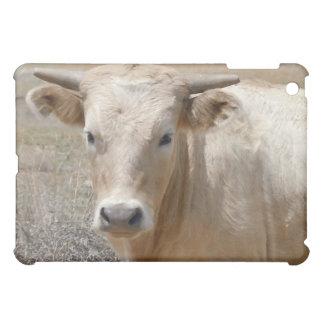大きい目の西部白いCharolaisの牛- iPad Miniケース