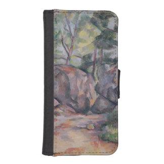 大きい石が付いている森林、1893年 iPhoneSE/5/5sウォレットケース