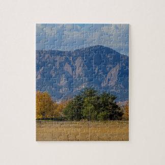 大きい石のコロラド州の秋のFlatironの午後 ジグソーパズル