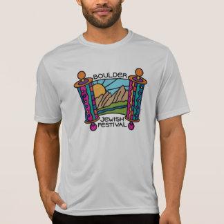 大きい石のユダヤ人のフェスティバルのクラシックなロゴの人のスポーツT Tシャツ