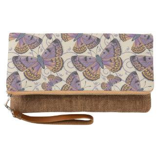 大きい石の銅の蝶 クラッチバッグ