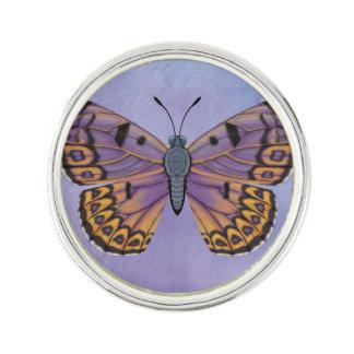 大きい石の銅の蝶 ラペルピン