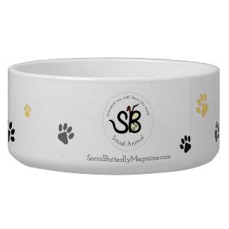 大きい社会的な動物の陶磁器ボール 犬のえさ皿